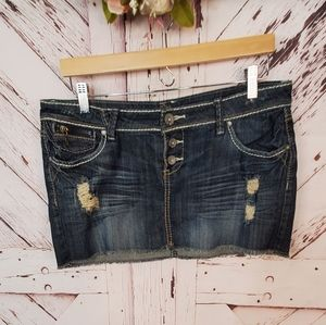 Almost Famous Distressed Jeans Skirt 13